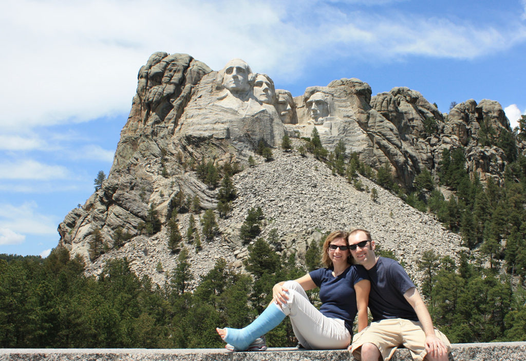 Julie and Scott in Mt. Rushmore