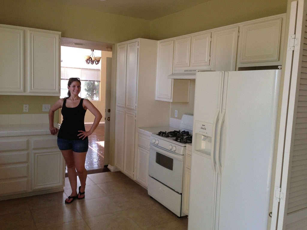 Julie in an Empty Kitchen