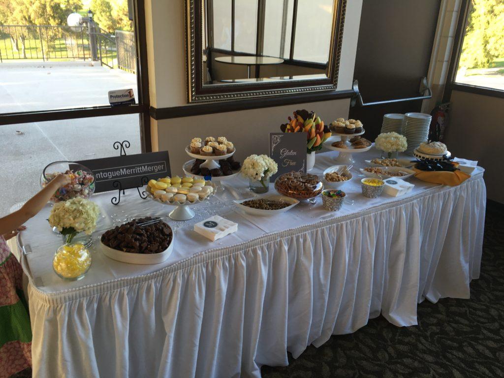 Gluten Free Dessert Table at a Celiac Friendly Wedding